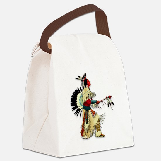 Native American Warrior #5 Canvas Lunch Bag