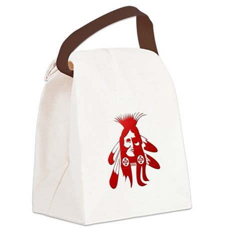 Native American Warrior #2 Canvas Lunch Bag