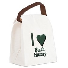 I Love Black History Canvas Lunch Bag