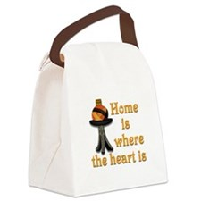 Cute Black history heart Canvas Lunch Bag