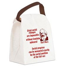 Karl Marx on Women Canvas Lunch Bag