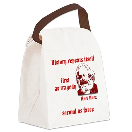 Karl Marx on History Canvas Lunch Bag