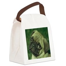 Pug Dog Canvas Lunch Bag