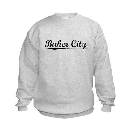 Baker City, Vintage Kids Sweatshirt