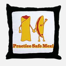 Practice Safe Mex! Throw Pillow