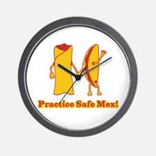 Practice Safe Mex! Wall Clock