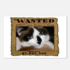 Simon: Wanted Postcards (Package of 8)