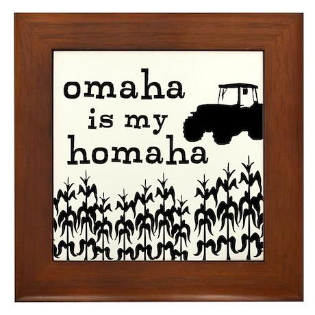 Omaha is My Homaha Framed Tile