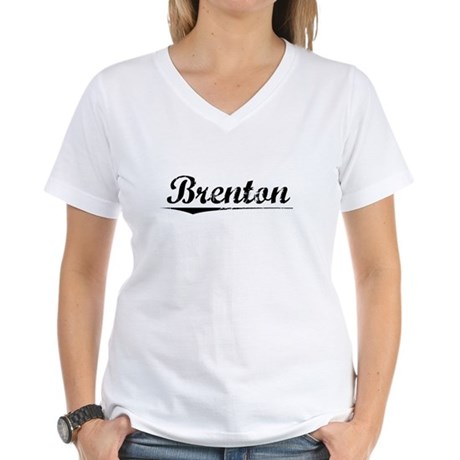 Brenton, Vintage Women's V-Neck T-Shirt