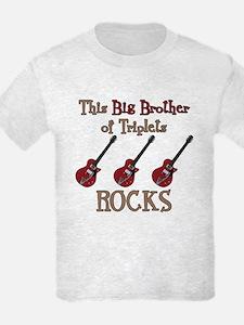 Big Bro Rocks Triplets T-Shirt
