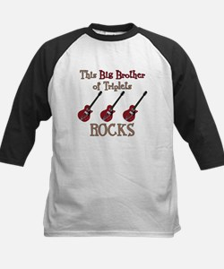 Big Bro Rocks Triplets Kids Baseball Jersey