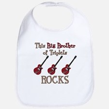 Big Bro Rocks Triplets Bib