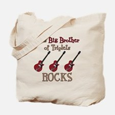 Big Bro Rocks Triplets Tote Bag
