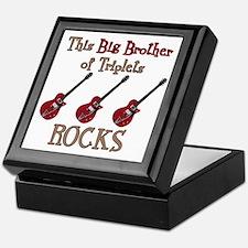Big Bro Rocks Triplets Keepsake Box