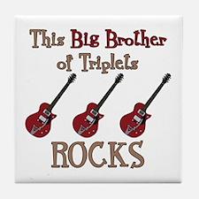 Big Bro Rocks Triplets Tile Coaster