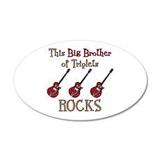 Big Bro Rocks Triplets Wall Decal
