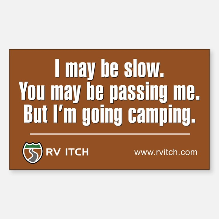 RV Itch I'm Going Camping Decal