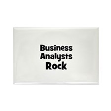 BUSINESS ANALYSTS Rock Rectangle Magnet