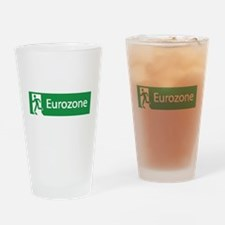 Eurozone Exit Drinking Glass