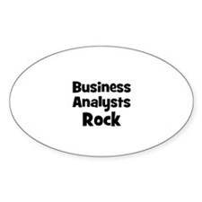 BUSINESS ANALYSTS Rock Oval Decal