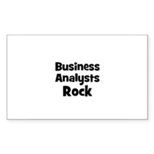 BUSINESS ANALYSTS Rock Rectangle Decal