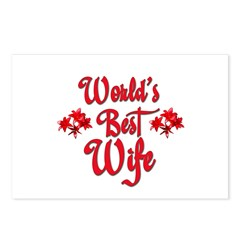 World's Best Wife Postcards (Package of 8)
