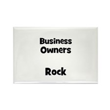 BUSINESS OWNERS Rock Rectangle Magnet
