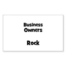 BUSINESS OWNERS Rock Rectangle Decal