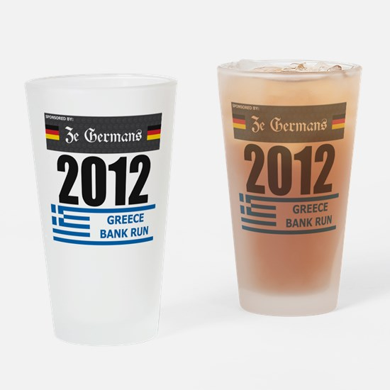 Bank Run 2012 - Greece Drinking Glass