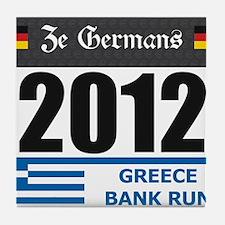 Bank Run 2012 - Greece Tile Coaster