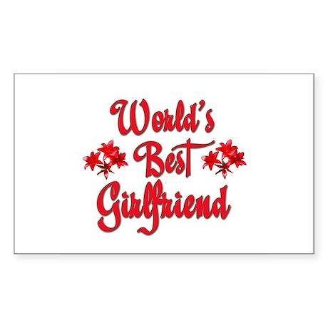 World's Best Girlfriend Rectangle Sticker