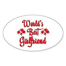 World's Best Girlfriend Oval Decal