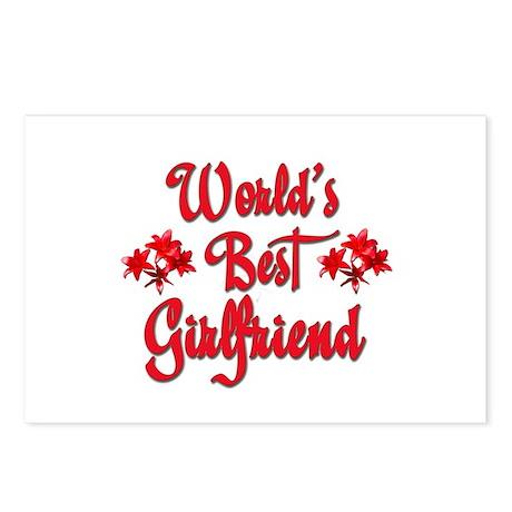 World's Best Girlfriend Postcards (Package of 8)