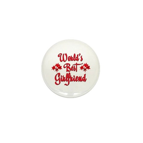 World's Best Girlfriend Mini Button (100 pack)