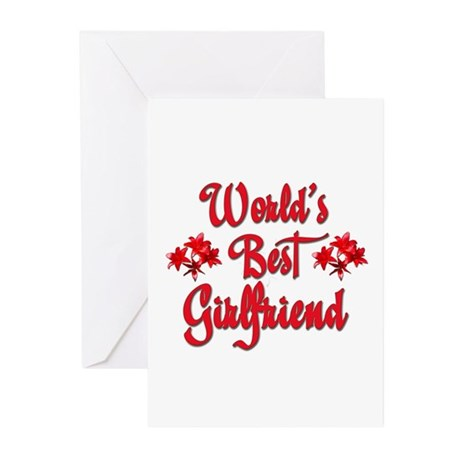 World's Best Girlfriend Greeting Cards (Package of