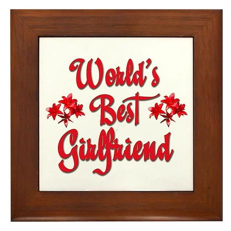 World's Best Girlfriend Framed Tile