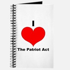 I love the patriot act Journal