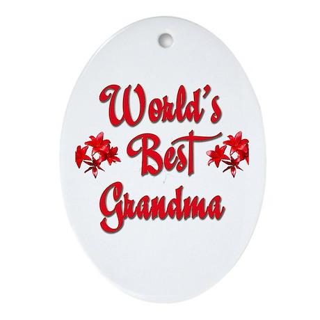 World's Best Grandma Oval Ornament