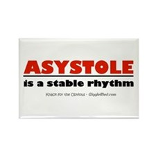Asystole Rectangle Magnet