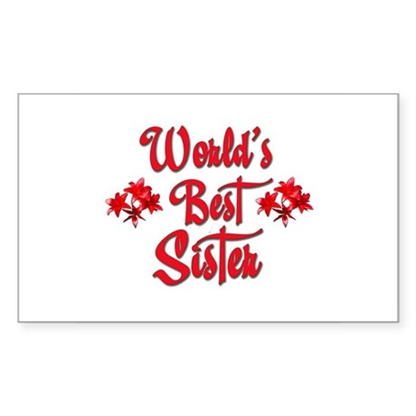 World's Best Sister Rectangle Sticker