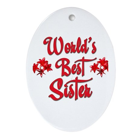 World's Best Sister Oval Ornament