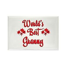 World's Best Granny Rectangle Magnet