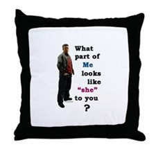 What Part Throw Pillow