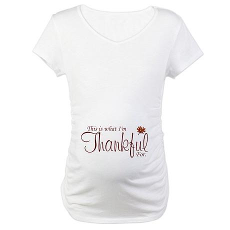 Thankful Maternity Maternity T-Shirt