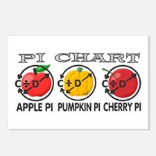 Pi Chart Postcards (Package of 8)