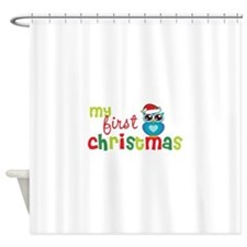 My First Christmas Shower Curtain