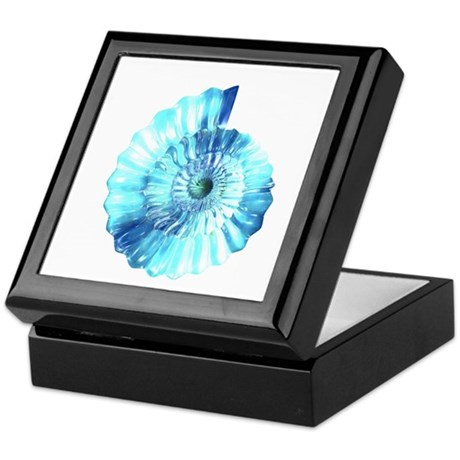 Blue Ammonite Keepsake Box