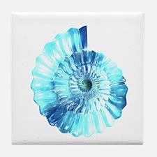 Blue Ammonite Tile Coaster