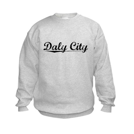 Daly City, Vintage Kids Sweatshirt