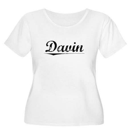 Davin, Vintage Women's Plus Size Scoop Neck T-Shir